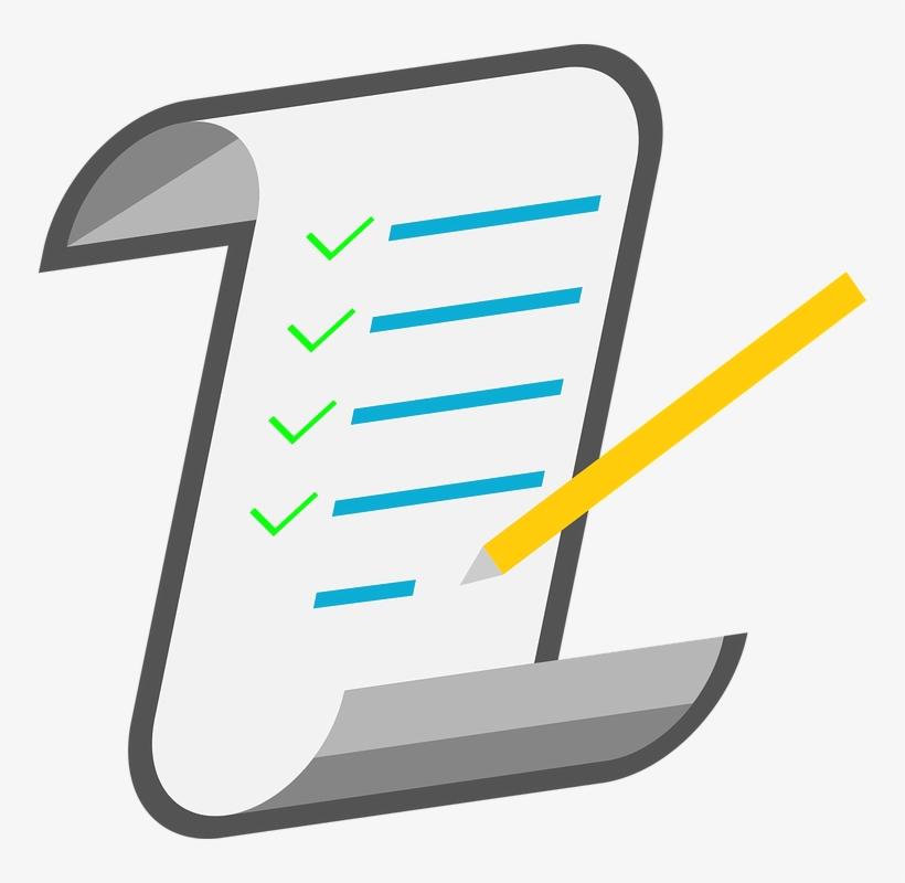 Checklist clipart transparent svg Checklist, Icon, Notes - Transparent Background Checklist Clip Art ... svg