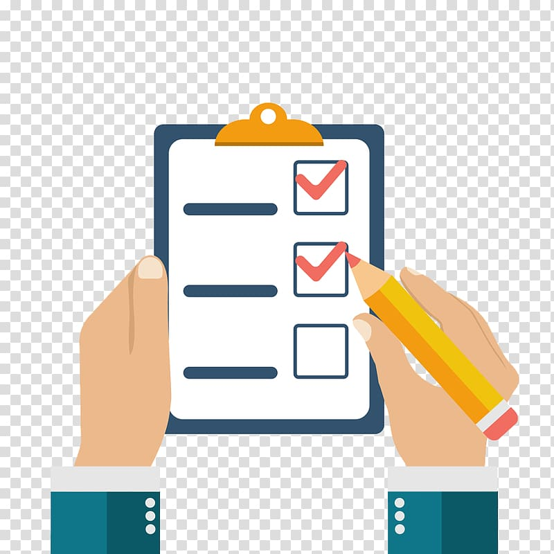 Checklist clipart transparent jpg royalty free download Person holding pencil illustration, Questionnaire Checklist Survey ... jpg royalty free download