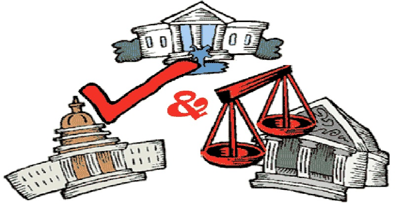 Checks and balances clipart. So called judges holding