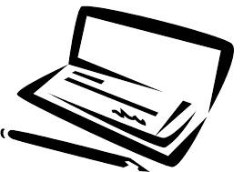 Bank check clip art. Checks clipart