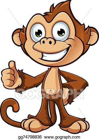 Cheeky clipart jpg royalty free download Vector Stock - Cheeky monkey character. Clipart Illustration ... jpg royalty free download