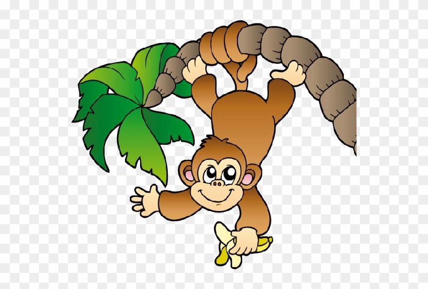 Cheeky clipart svg free library Jungle Clipart Cheeky Monkey - Monkey Hanging From A Tree - Png ... svg free library
