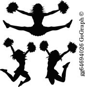 Cheerleader clipart images free svg royalty free library Cheerleader Clip Art - Royalty Free - GoGraph svg royalty free library