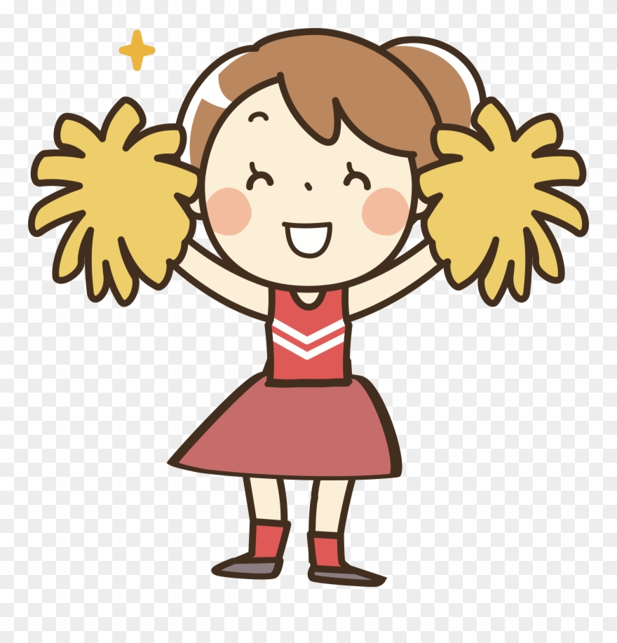 Cheerleader animated clipart png royalty free stock Clothes Clipart Cheerleader - Pom Pom Girl Dessin - Png Download ... png royalty free stock