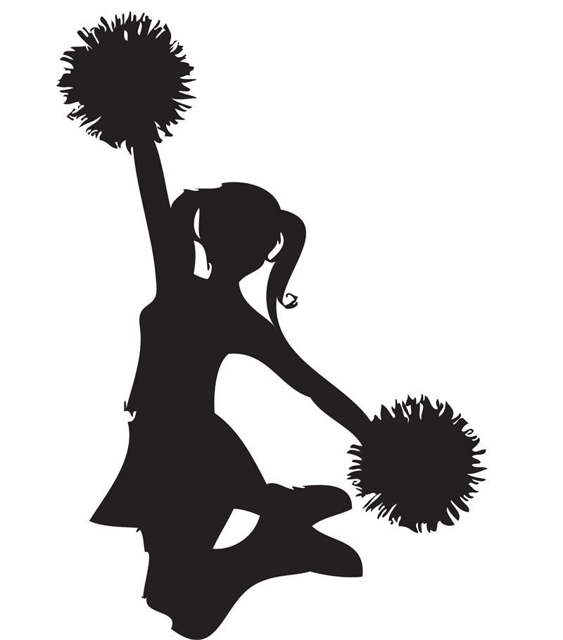 Cheerleader clipart black and white image black and white download cheerleader clip art black and white | Black Cheerleader Clip Art ... image black and white download