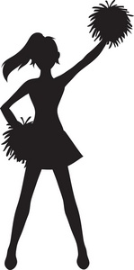 Cheerleader clipart black and white clip royalty free 71+ Cheerleader Pictures Clip Art | ClipartLook clip royalty free