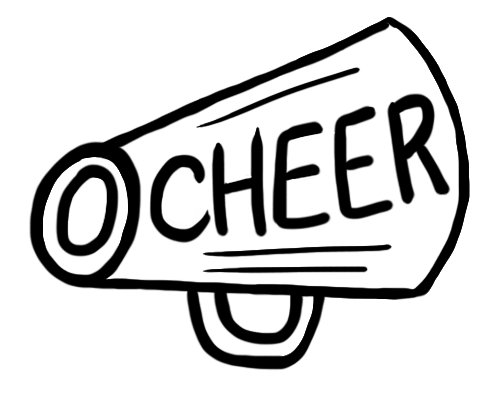 Cheer clipart svg black and white library Cheerleading Megaphone Clipart | Free download best Cheerleading ... svg black and white library