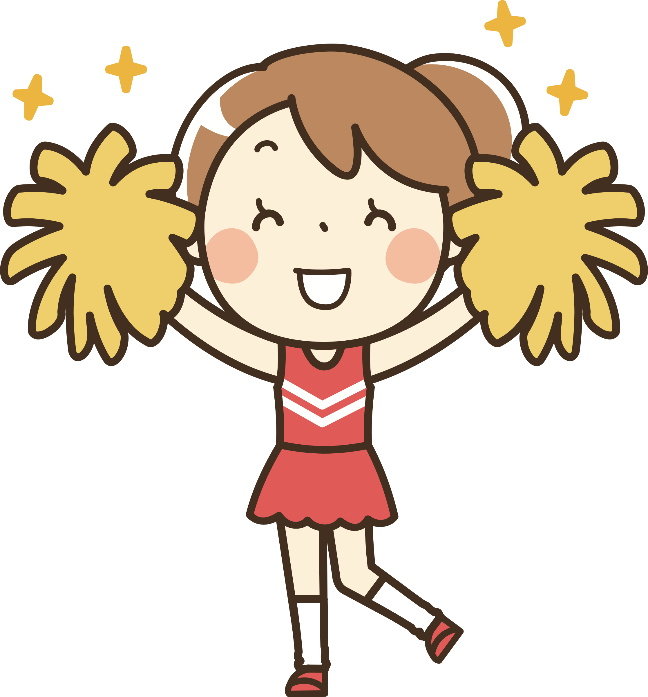 Cheer clipart clipart vector black and white library Clipart - Clip Art Cheerleader , Transparent Cartoon - Jing.fm vector black and white library