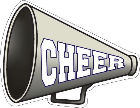 Cheerleading megaphones download clip. Free cheer megaphone clipart