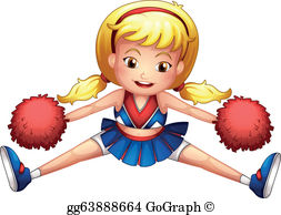 Cheerleader clipart freeuse library Cheerleader Clip Art - Royalty Free - GoGraph freeuse library