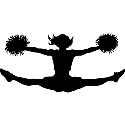 Cheer toe touch clipart vector black and white download Cheerleading clipart toe touch clipart images gallery for free ... vector black and white download