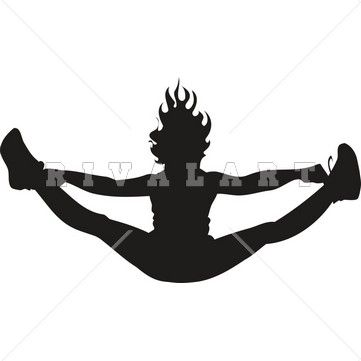 Cheer toe touch clipart svg black and white stock Cheerleader Toe Touch Clipart - Clipart Kid | Cool crafts | Cheer ... svg black and white stock