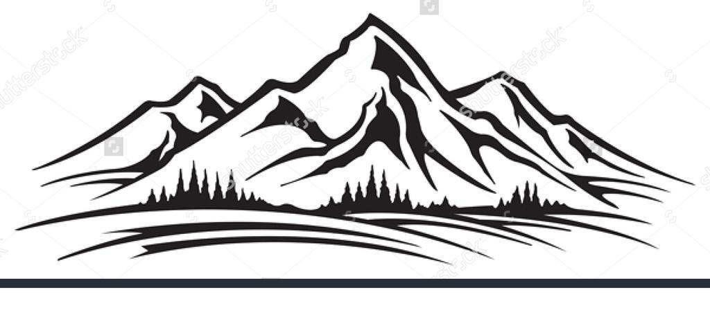 Mountain range clipart free