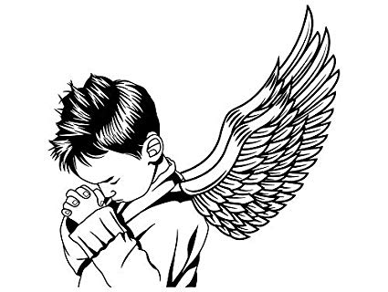 Cheerfulness clipart black and white vector transparent stock Amazon.com: Yetta Quiller Baby Boy Praying Christianity ... vector transparent stock