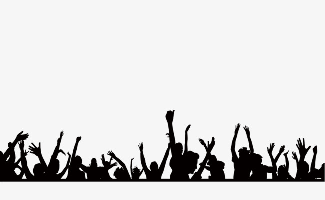 Transparent clipart crowd people cheering clip download Cheering crowd clipart 8 » Clipart Station clip download