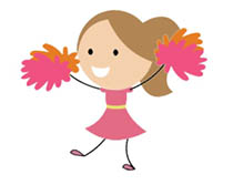 Cheerleader animated clipart image royalty free download Cheerleading Animated Clipart - Animated Gifs image royalty free download