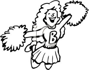 Cheerleader clipart black and white clip transparent Cheer Clipart Black And White | Free download best Cheer Clipart ... clip transparent