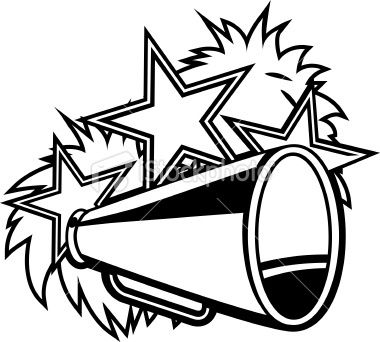 Cheerleader clipart black and white clipart royalty free stock Cheer Clip Art And Megaphone Black White Useful Cheerleading Clipart ... clipart royalty free stock