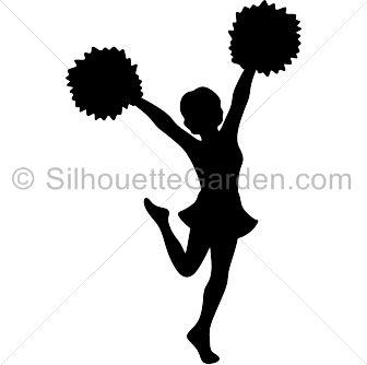 Cheerleader clipart silhouette clip transparent download Cheerleader Silhouette Clipart   Free download best Cheerleader ... clip transparent download