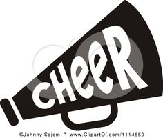 Cheerleader clipart svg picture library library FREE cheer sillohette clip art black and white | Cheerleader clip ... picture library library