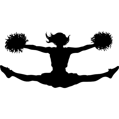Cheerleader clipart transparent vector transparent stock Cheerleading Jump Clipart transparent PNG - StickPNG vector transparent stock