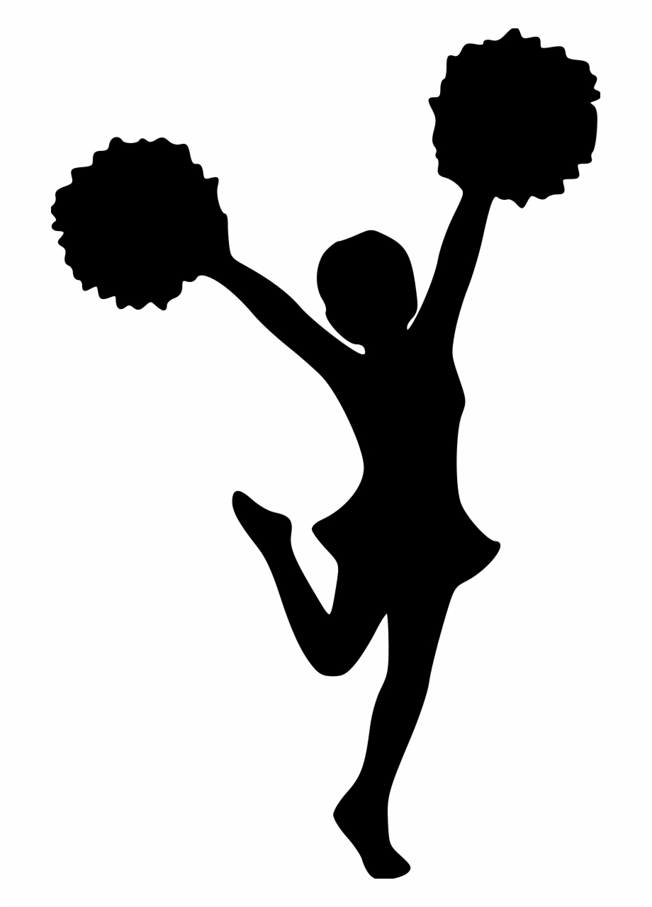 Cheerleader clipart without pom poms graphic black and white Cheerleader Pom Poms File Size - Clipart Transparent Background ... graphic black and white