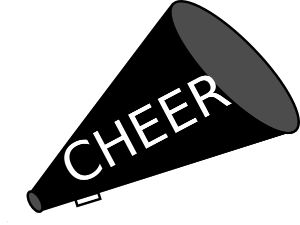 Free cheer megaphone clipart clipart library library FREE cheer sillohette clip art black and white   Megaphone Black ... clipart library library