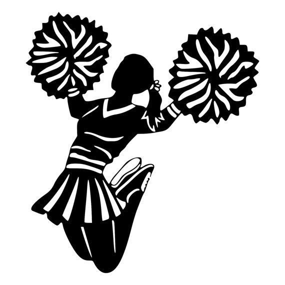 Cheerleader pom poms clipart black and white jpg royalty free download Black, Woman, Silhouette, Product, Line, Font, Tree, Graphics ... jpg royalty free download