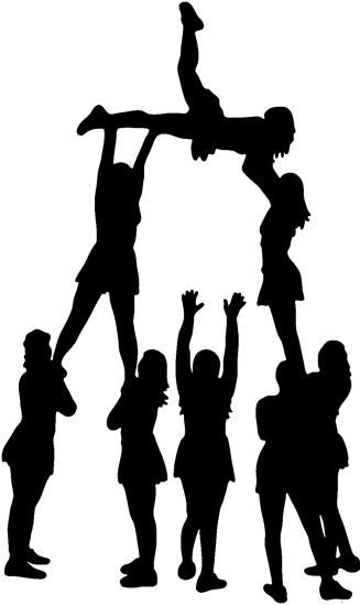 Cheerleader stunt clipart picture library stock Free download Cheerleader Pyramid Clipart for your creation. | Keep ... picture library stock