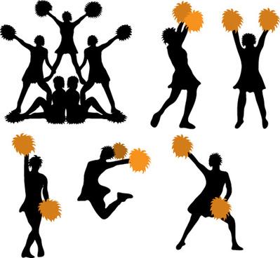 Cheerleader vector clipart