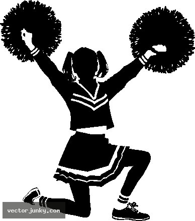 Free cheerleader clipart vector black and white download Cheerleader free cheerleading clip art black and white on dayasrionp ... vector black and white download