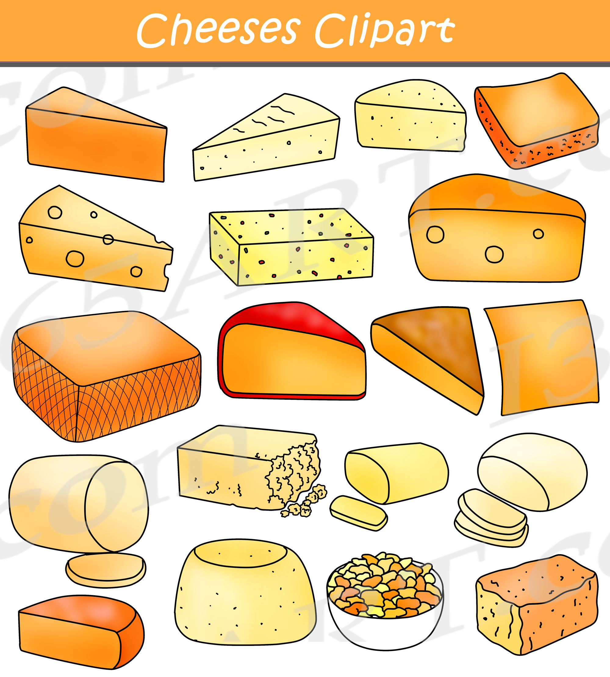 Cheese clipart graphic black and white Cheese Clipart Graphics Commercial Download graphic black and white