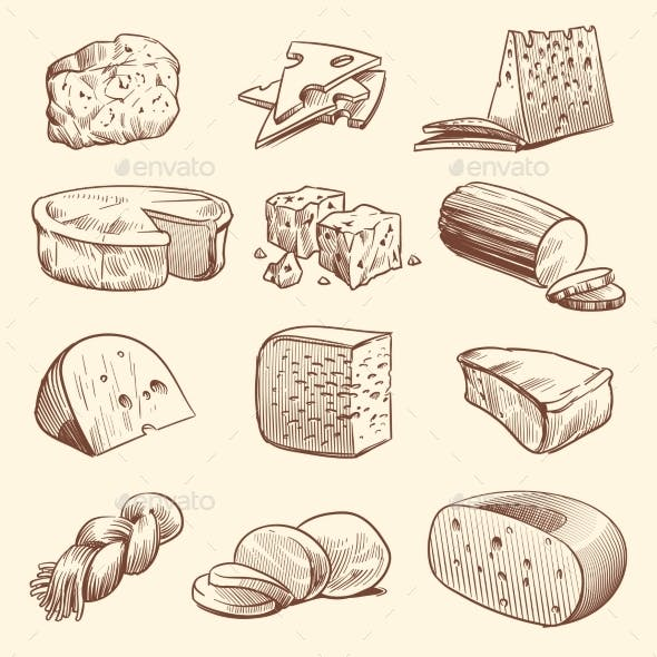 Cheese drawn isolated clipart clipart library library Brie Isolated Graphics, Designs & Templates from GraphicRiver clipart library library