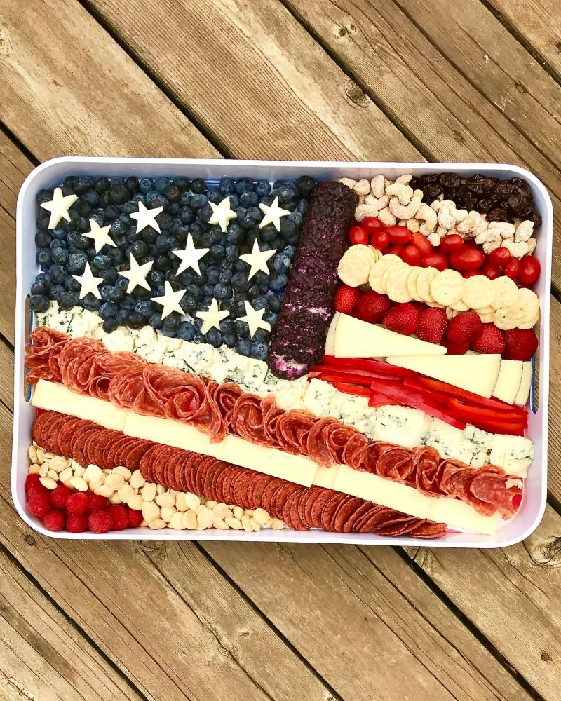 Cheese plate punch bowl clipart graphic free download American Flag Cheese Tray by The BakerMama | The BakerMama Recipes ... graphic free download