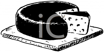 Cheese wheel for sale clipart black and white picture freeuse stock Royalty Free Clipart Image of a Cheese Wheel #176625 | iCLIPART.com picture freeuse stock