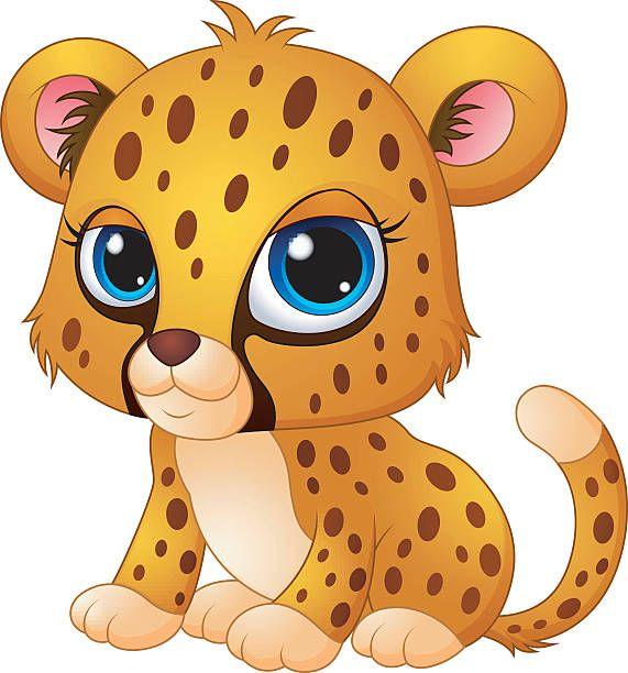 Cheetas clipart png free library Cheetah Clipart | animals | Baby cheetahs, Cheetah cartoon, Cute babies png free library