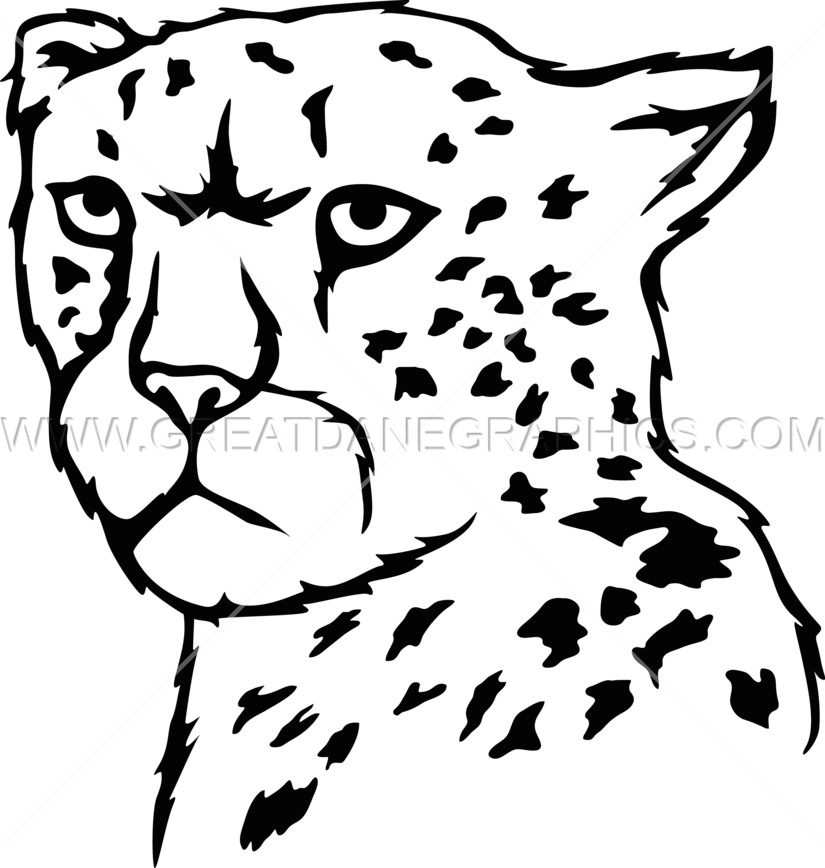 Cheetah book clipart black and white library Cheetah Head Drawing at GetDrawings.com | Free for personal use ... black and white library