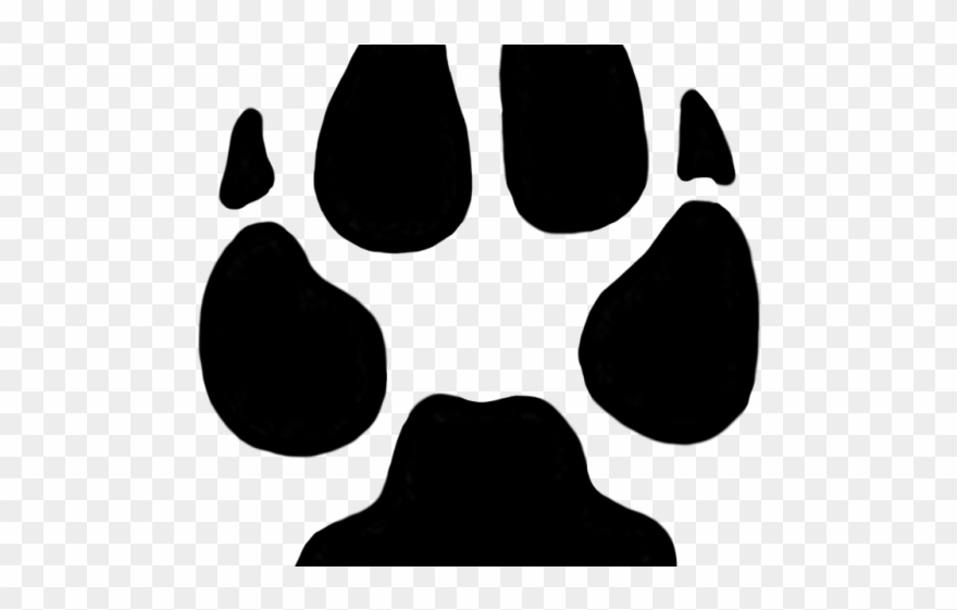 Cheetah paw print clipart png library stock Footprint Clipart Cheetah - Transparent Dog Paw Print - Png Download ... png library stock