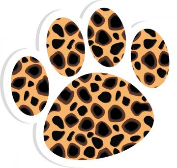 Cheetah paw print clipart clip art transparent library Free Leopard Paw Prints, Download Free Clip Art, Free Clip Art on ... clip art transparent library