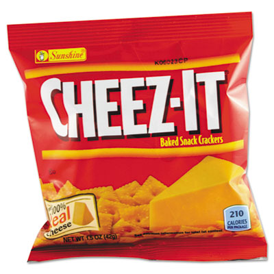 Cheezeits clipart vector royalty free stock Cheez-It Crackers, 1.5oz Single-Serving Snack Pack vector royalty free stock