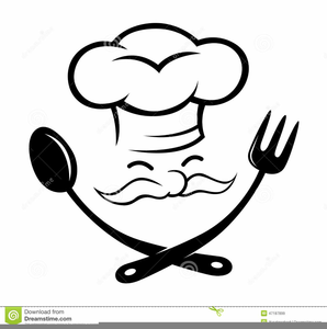 Chef black and white clipart