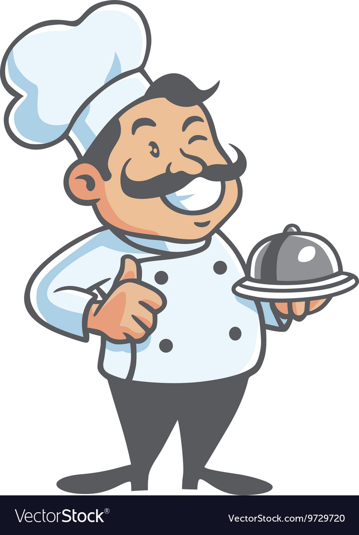 Chef cartoon free clipart clipart royalty free Happy Chef Cartoon Mascot Clipart clipart royalty free