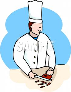Chef chopping clipart banner freeuse library A chef chopping meat clip art | Clipart Panda - Free Clipart Images banner freeuse library