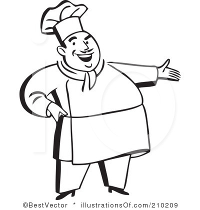Chef clipart image free library Chef Clipart Black And White | Clipart Panda - Free Clipart Images image free library
