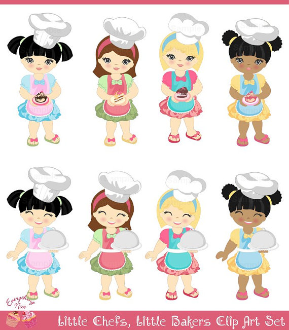 Chef clipart girl png free Little Girl Chef Clipart - Clipart Kid png free