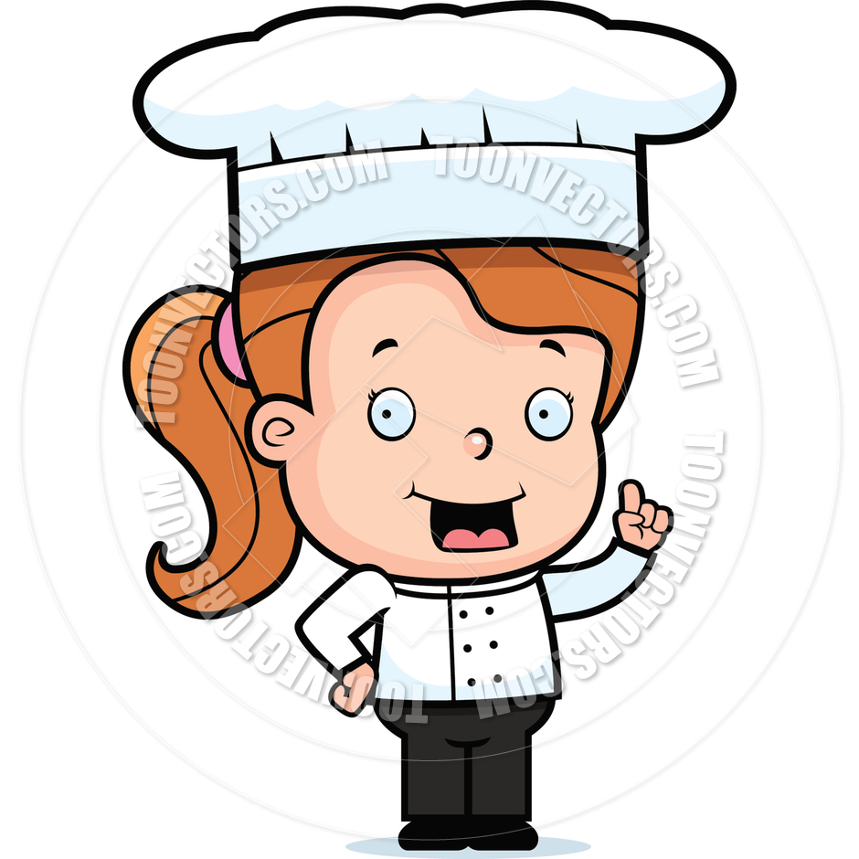 Chef clipart girl clip black and white Girl chef clipart - ClipartFest clip black and white