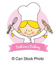 Chef clipart girl graphic library library Girl chef Clipart Vector Graphics. 1,903 Girl chef EPS clip art ... graphic library library