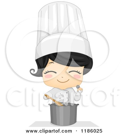 Chef clipart girl clip black and white stock Free Cartoon Girl Chef | Cook- vector illustration | Illustration ... clip black and white stock