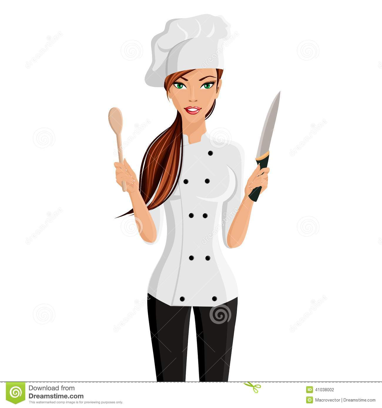 Chef clipart girl freeuse Woman Chef Clipart - Clipart Kid freeuse