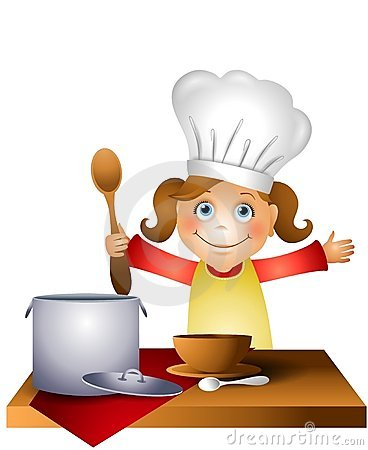 Chef clipart girl clipart royalty free Cartoon Girl Chef Cooking Stock Illustrations – 956 Cartoon Girl ... clipart royalty free